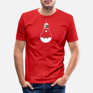 Setningsdelen Christmas Santa Clause design lampe - Slim fit T-skjorte for menn