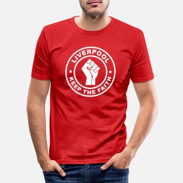 Merseyside Liverpool Hold Faith - Slim fit T-shirt mænd