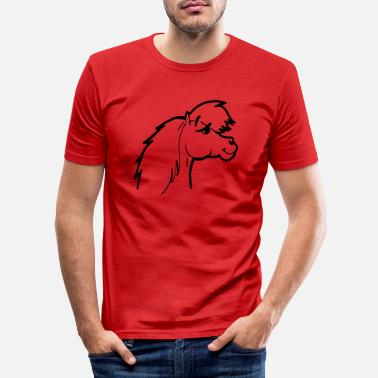 Conceited Pony head conceited and vain cocky and cheeky - Men's Slim Fit T-Shirt