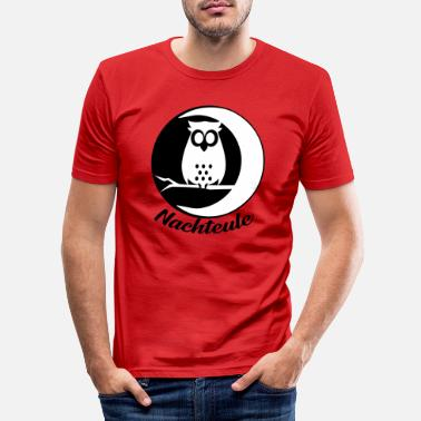 Night Owl Night owl owl owl bird night - Men's Slim Fit T-Shirt
