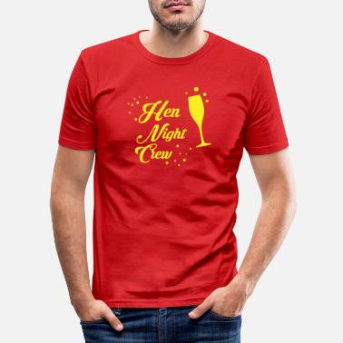 Hen Night Hen Night Crew - T-shirt slim fit herr