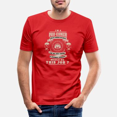 Legende gaming gamer verrueckt gewarnt job badass hart ber - Männer Slim Fit T-Shirt