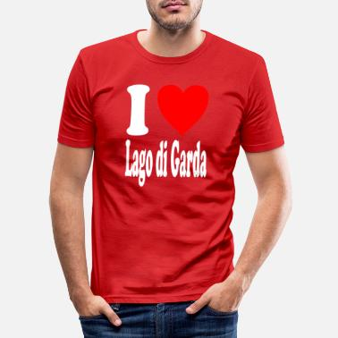 Lago Di Garda I love Lago di Garda - Men's Slim Fit T-Shirt