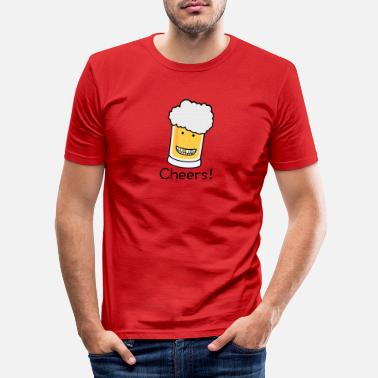 Tchin Tchin Cheers beer - T-shirt moulant Homme