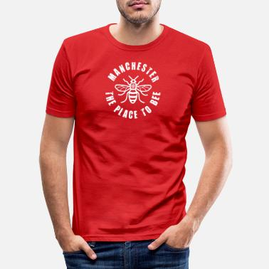 Bee Manchester - The Place to BEE - Men's Slim Fit T-Shirt