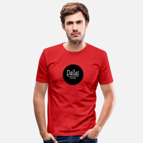Travel T-Shirts - Dallas - Men's Slim Fit T-Shirt red
