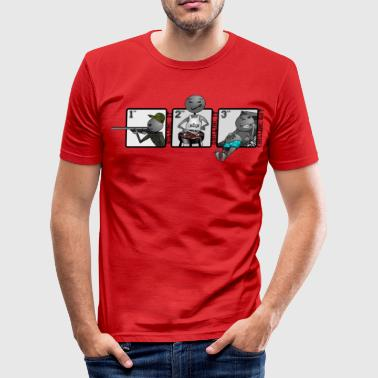 thrilling day - grayscale - DIGITAL - Men's Slim Fit T-Shirt