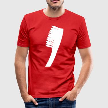 Diggaladen gegeng20 toothbrush freestellt SW - Men's Slim Fit T-Shirt