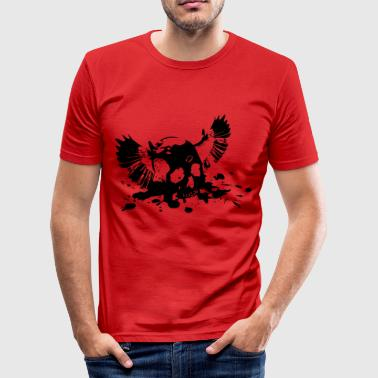 flying Skull - Männer Slim Fit T-Shirt
