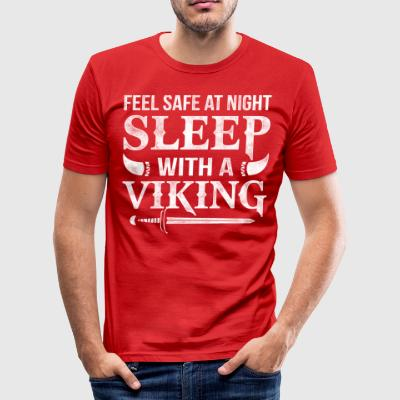 Sleep with a Viking feel safe at night - Men's Slim Fit T-Shirt