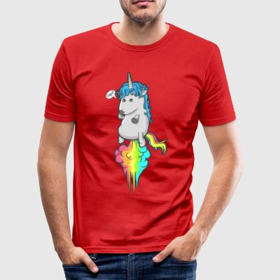 Unicorn Rainbow Hvalpe Cloud Piger T-shirt Ups - Herre Slim Fit T-Shirt