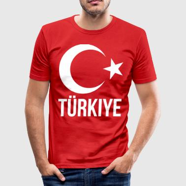 kalkon - Slim Fit T-shirt herr