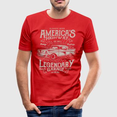 Americas Highway - Men's Slim Fit T-Shirt