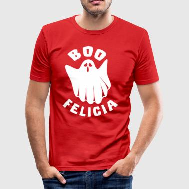 Boo Felicia Funny Halloween shirt - Herre Slim Fit T-Shirt