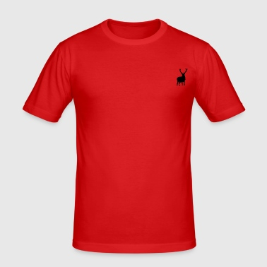 Hipster Deer - Men's Slim Fit T-Shirt