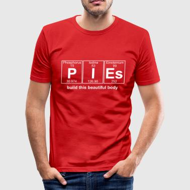 P-I-Es (pies) - Full - Slim Fit T-shirt herr