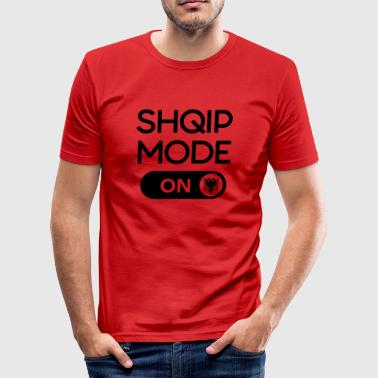 Shqip fashion black - Men's Slim Fit T-Shirt