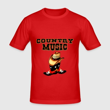 country music - T-shirt près du corps Homme