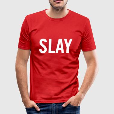 hvit Slay - Slim Fit T-skjorte for menn