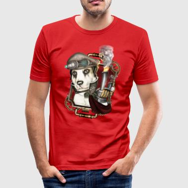 Steampunk Dog # 1 - Men's Slim Fit T-Shirt