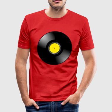 vinyl - Slim Fit T-skjorte for menn