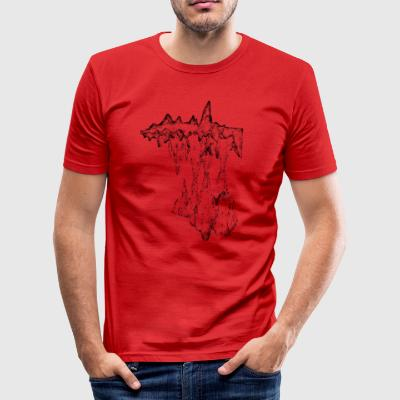 katedral - Slim Fit T-shirt herr