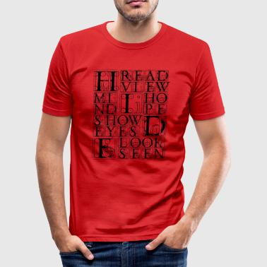 hide - Men's Slim Fit T-Shirt