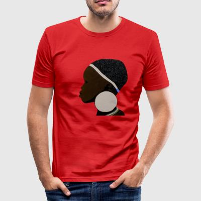 afrikansk Mursi flicka 1 - Slim Fit T-shirt herr