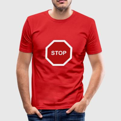stoppskylt - Slim Fit T-shirt herr