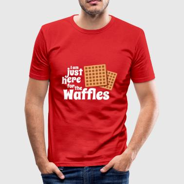 Just here for the Waffles - Men's Slim Fit T-Shirt