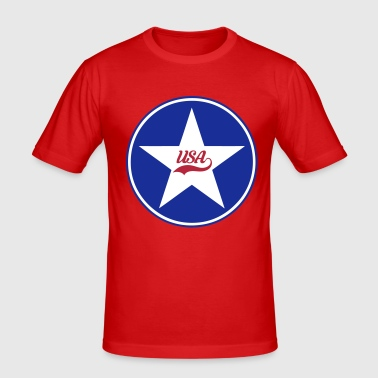 USA vector design - T-shirt près du corps Homme