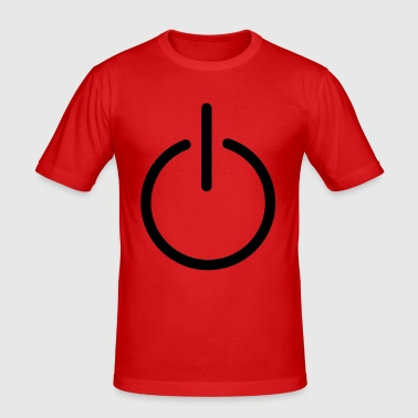 power button - Men's Slim Fit T-Shirt