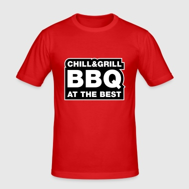 Chill & Grill - Männer Slim Fit T-Shirt