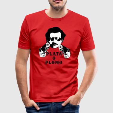 Pablo Escobar - Silver or Lead T-Shirt - Men's Slim Fit T-Shirt
