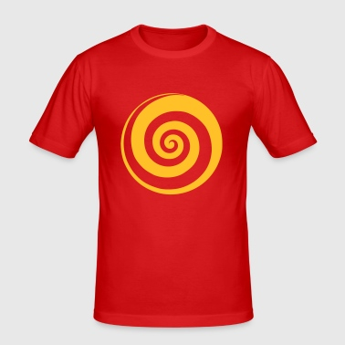 Spirale - Männer Slim Fit T-Shirt