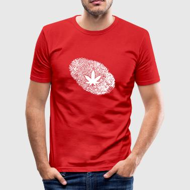 fingerprint dna dns gift reggea weed - Men's Slim Fit T-Shirt