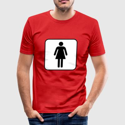 vrouw - slim fit T-shirt