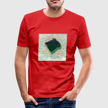 bread glitch - Men's Slim Fit T-Shirt