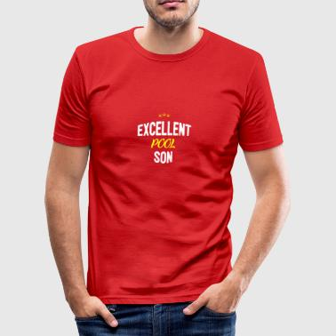 Distressed - SON EXCELLENT PISCINE - Tee shirt près du corps Homme