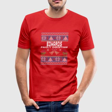 Ugly Edwards Christmas Family Vacation Tshirt - Men's Slim Fit T-Shirt