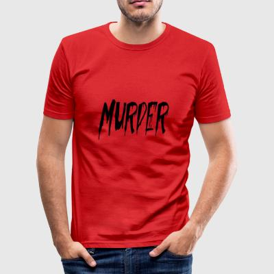 mord - Slim Fit T-skjorte for menn