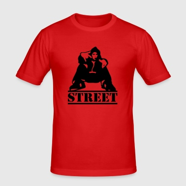 street - Slim Fit T-skjorte for menn