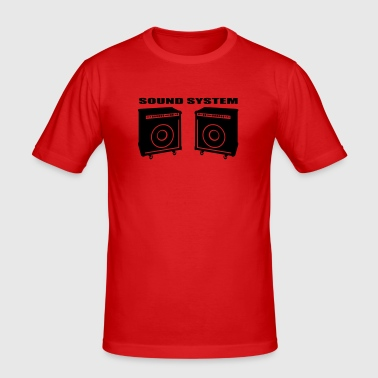 Sound system - Slim Fit T-shirt herr