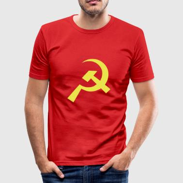 Kommunistiske Hammer Sickle Flag - Herre Slim Fit T-Shirt