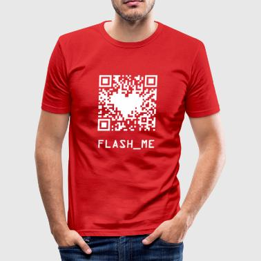 qrcode wite - Slim Fit T-shirt herr