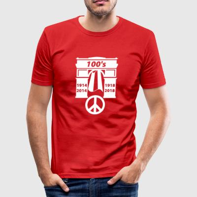 19141918 wite - Slim Fit T-skjorte for menn