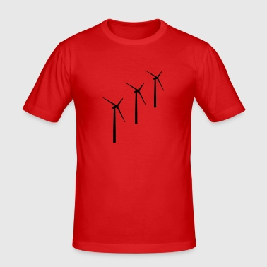 3 Windräder/Windenergie - Männer Slim Fit T-Shirt