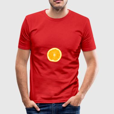 orange - Slim Fit T-skjorte for menn