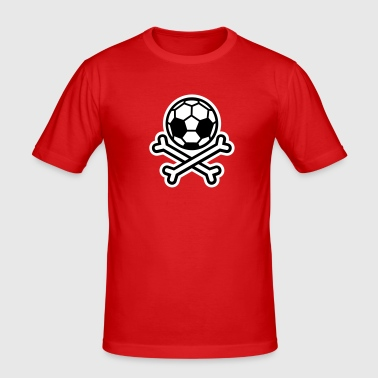 Soccer skull hooligan - slim fit T-shirt