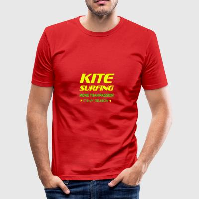 KITEBOARD PLUS DE PASSION - ITS MY RELIGION - Tee shirt près du corps Homme